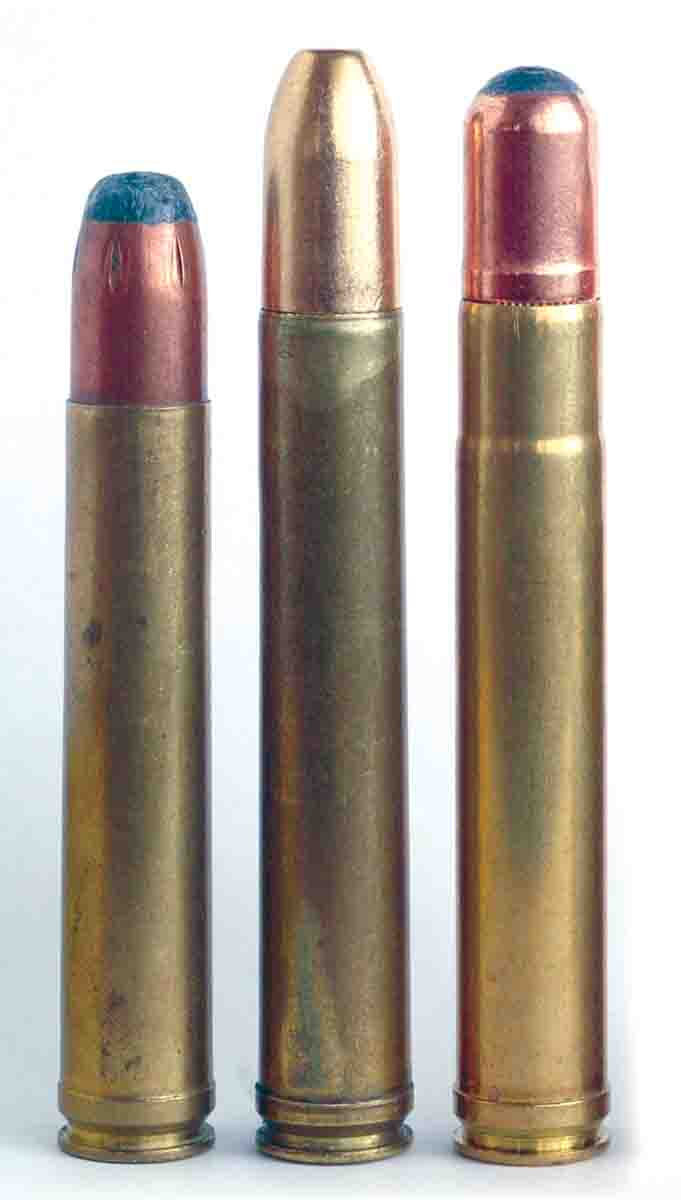 The Big .450s include (left to right): .458 Winchester, .458 Lott and .450 Ackley.