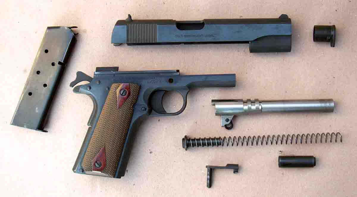 Mechanically, the Model 1911 remains largely unchanged. Field-stripping can be accomplished in just a few seconds without tools.