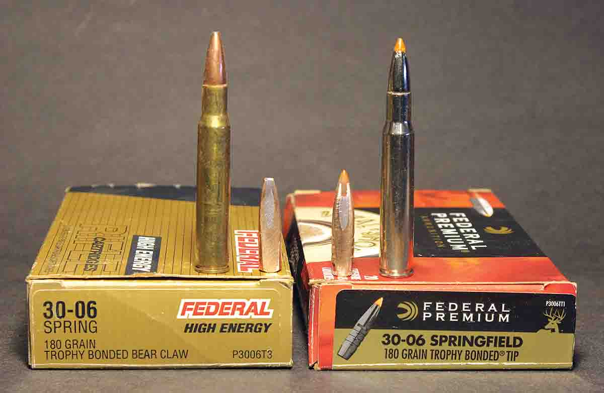 Federal's Trophy Bonded Tip bullet uses exactly the same interior construction as the Bear Claw ammunition in the 1990s, but with modern exterior changes.