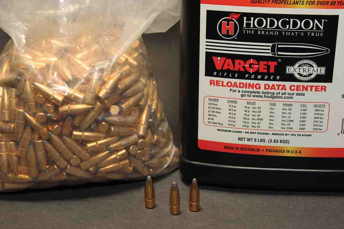 Varget proved to be the most accurate powder with Winchester 150-grain Power- Points provided by Tom Booker, the rifle's owner.