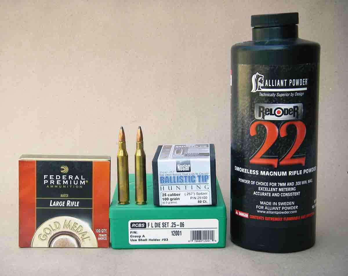 Troubleshooting .25-06 Remington handloads should include using a chronograph, changing primers and carefully reviewing maximum powder charge weights.