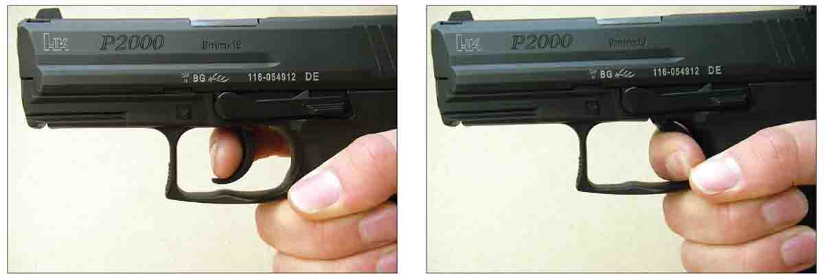 The HK P2000 Variant 3 is a double- and single-action design. After the first round is fired, all subsequent shots are fired in single-action mode.