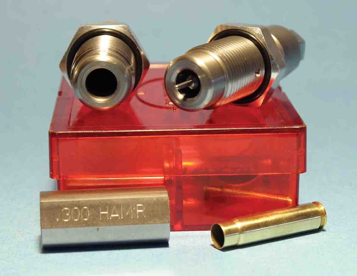 Lee Precision dies produced very straight ammunition and the box includes a length/headspace gauge for resized cases to ensure they will chamber easily.