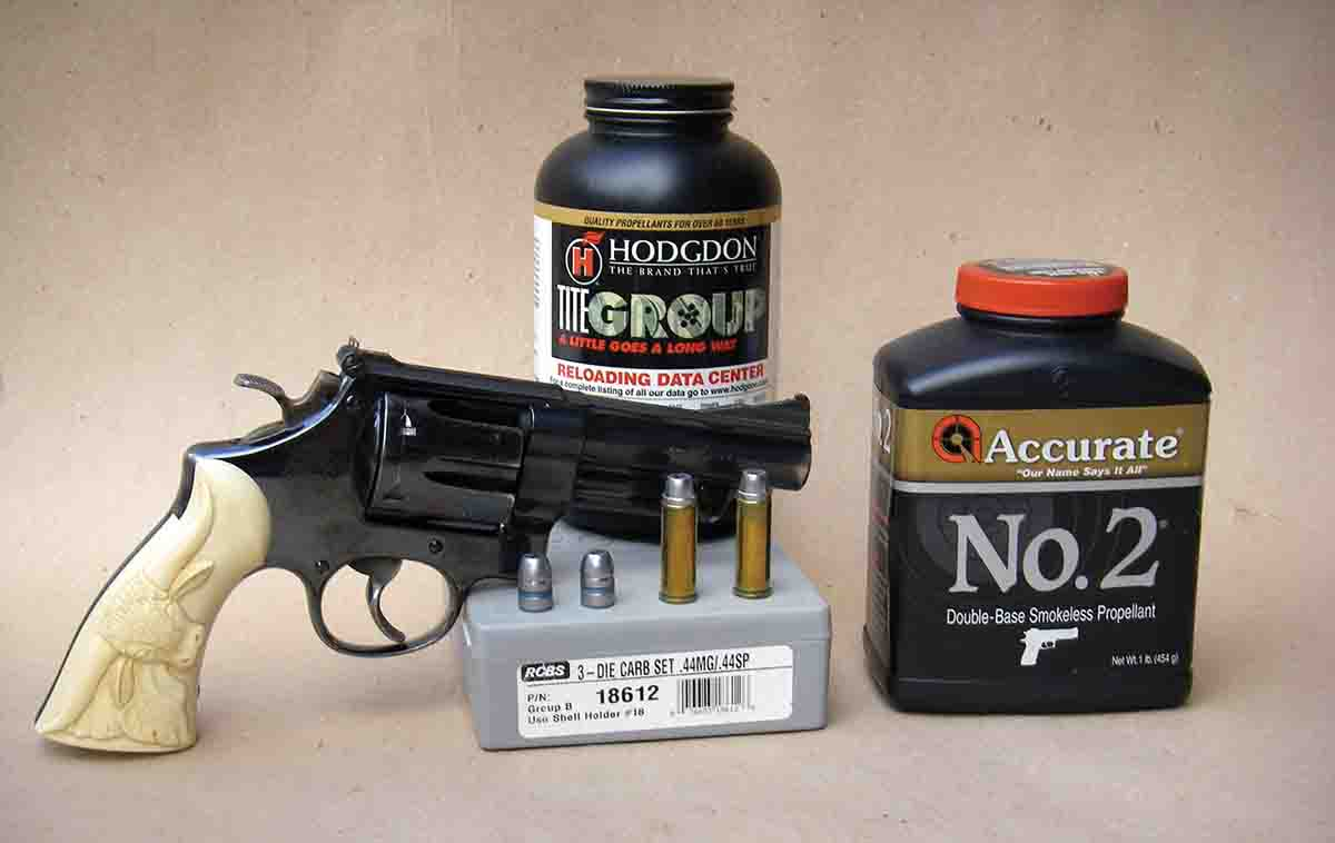 Accurate No. 2 and Hodgdon Titegroup are excellent powder choices for reduced .44 Magnum loads containing cast bullets.