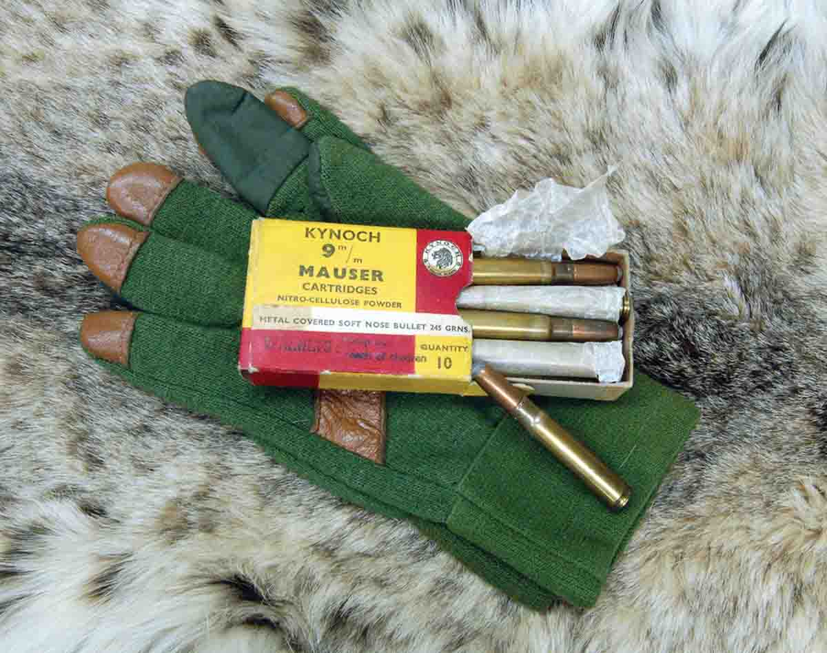 A Kynoch 10-pack of 9x57 cartridges was available until 1970.