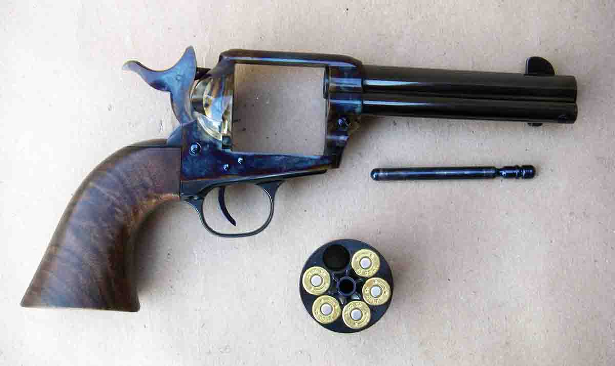 The Standard Manufacturing Single Action revolver should only be carried with five cartridges and the hammer resting on an empty chamber.