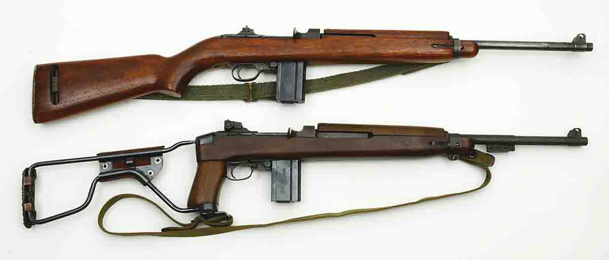 These .30 carbines have been used extensively with cast bullets. At top is an M1 and below it is an M1A1.