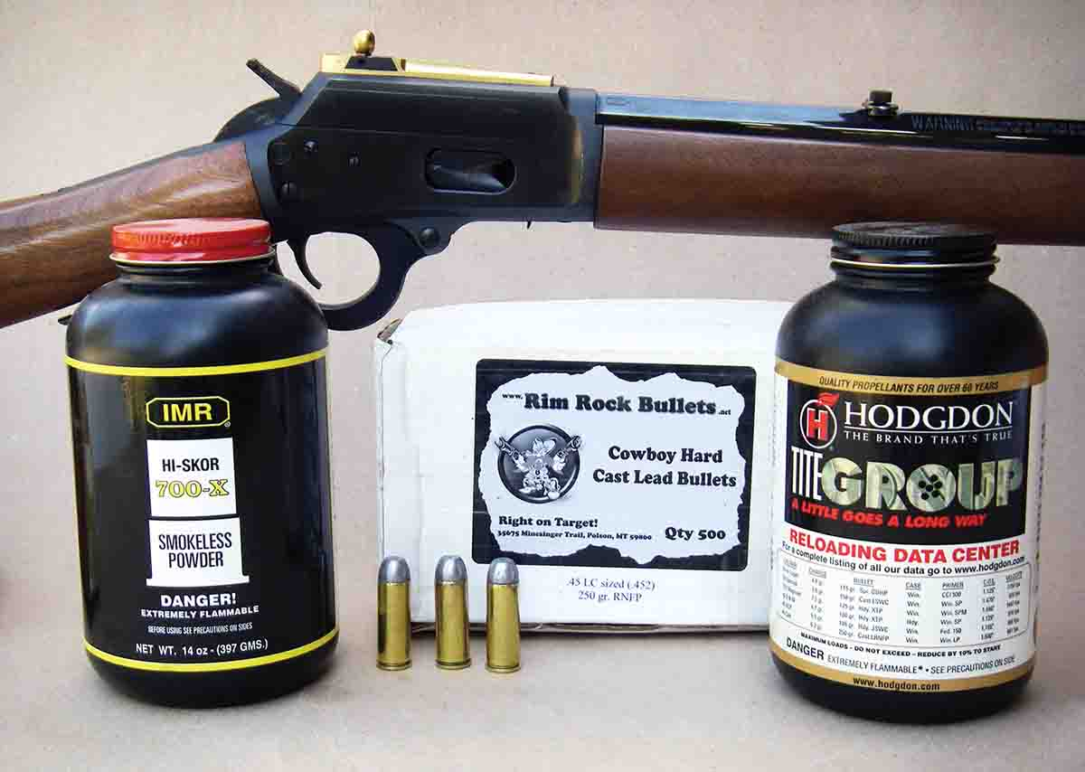 Increasing powder charges in the .45 Colt will help cases expand to provide a gas seal in rifles, effectively preventing blowback around the bolt.