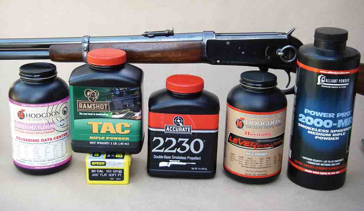 Several powders are capable of pushing 150-grain bullets 2,200 fps and beyond from a Winchester Model 1894 .30-30 with a 20-inch barrel.