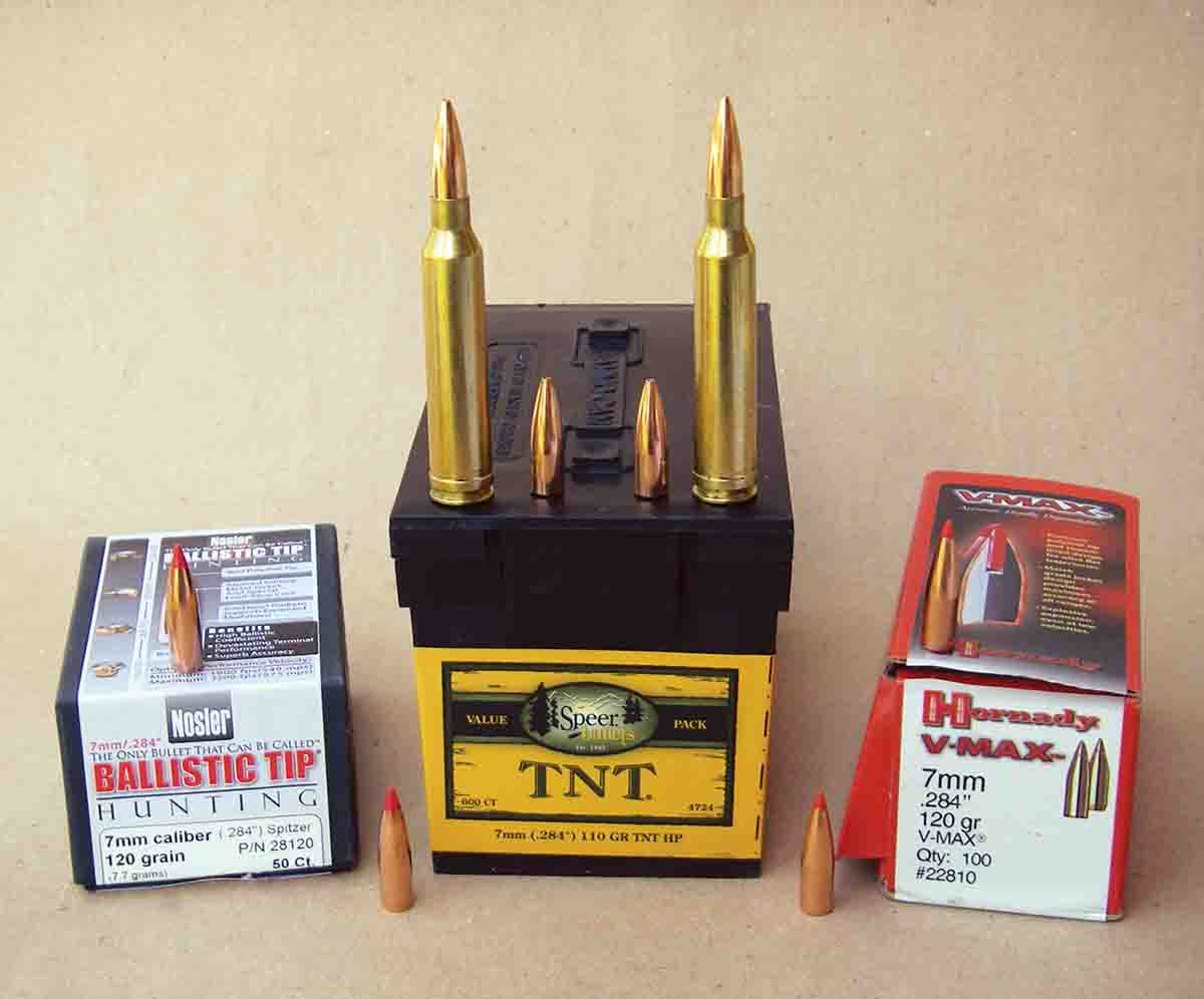 Varmint hunters will appreciate the accuracy and performance of the Nosler 120-grain Ballistic Tip, Speer 110-grain TNT HP and the Hornady 120-grain V-MAX.