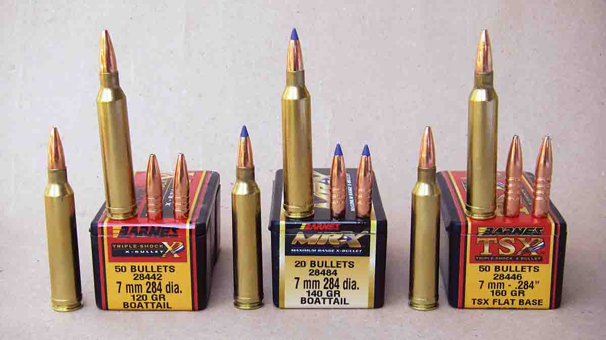 Barnes Triple Shocks and MR-X bullets are popular choices among big-game hunters.