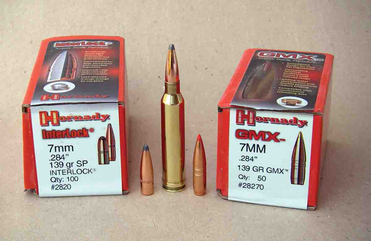 Hornady offers an extensive line of cup-and-core and monolithic 7mm bullets.