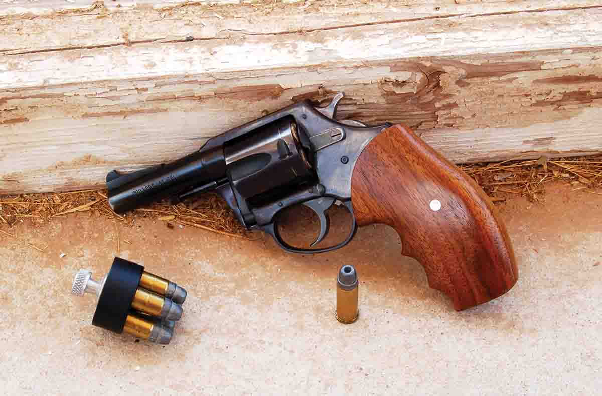 An original Charter Arms Bulldog and Federal 200-grain hollowpoint loads. This was the first modern .44 Special cartridge since 1907. It is still available today.