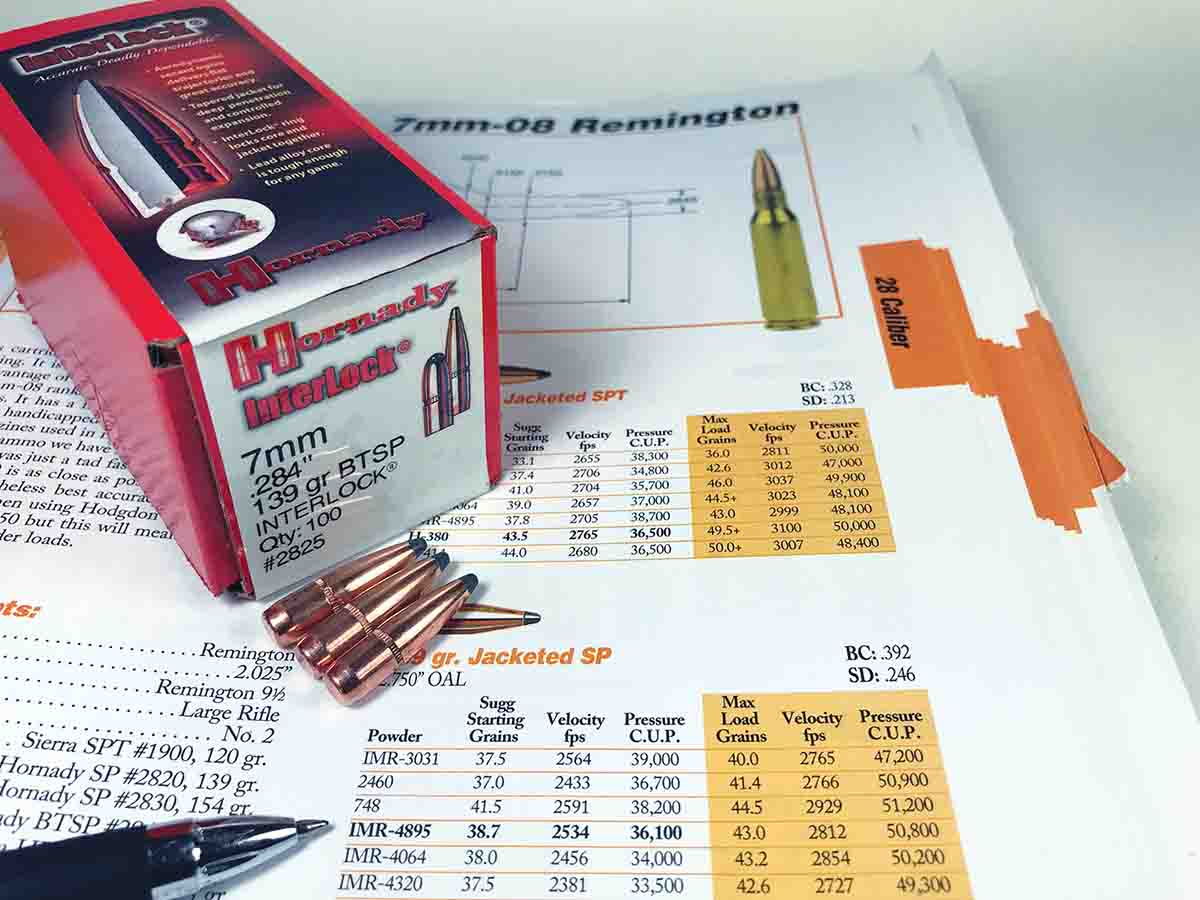 Current handloading manuals have accomplished a lot of the work in choosing powders and bullet seating depths required to develop accurate loads. The Lyman 50th Edition Reloading Handbook prints the most accurate load in bold.