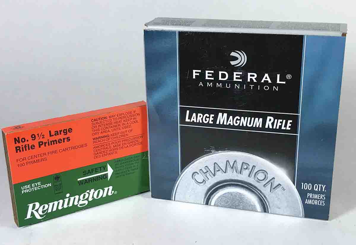 Most standard rifle cartridges shoot best with regular primers, but certain powders might perform better when ignited with magnum primers such as Federal 215.