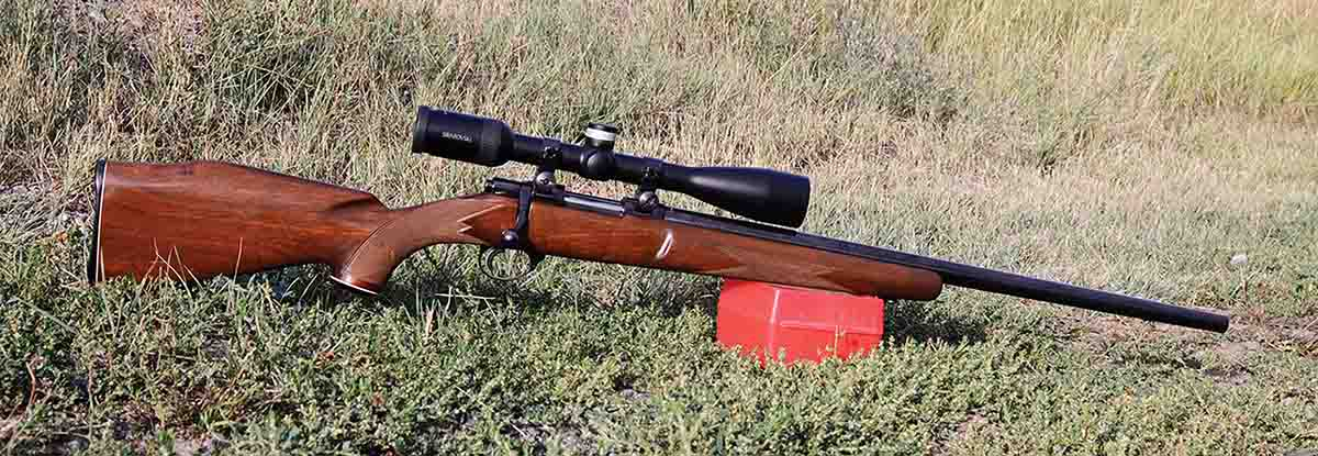 For test-shooting, a friend loaned Mike his Sako .222 Remington Magnum.