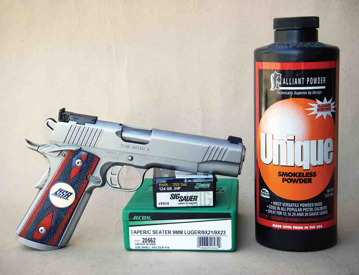Alliant Unique has been around for nearly 120 years and is a popular choice for handloading the 9mm Luger.