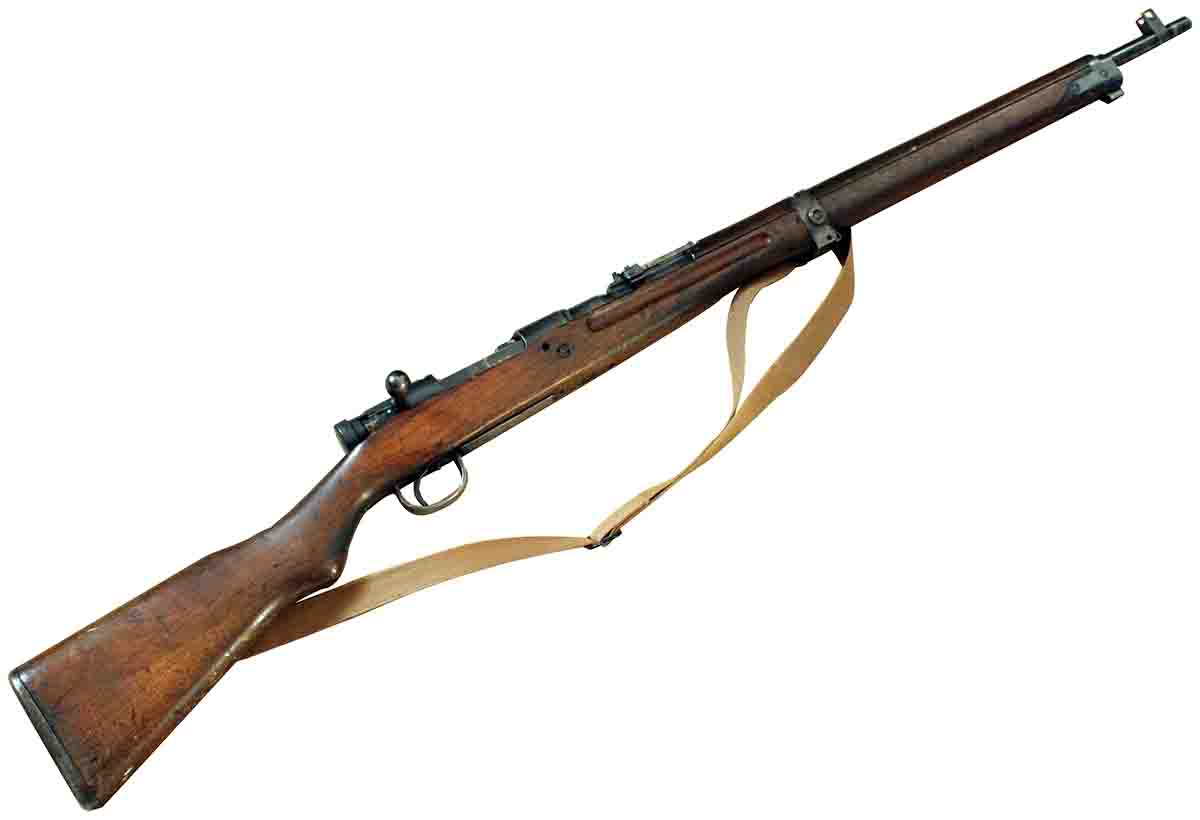 John's Arisaka, in nearly unaltered condition, was found on a used-gun rack.