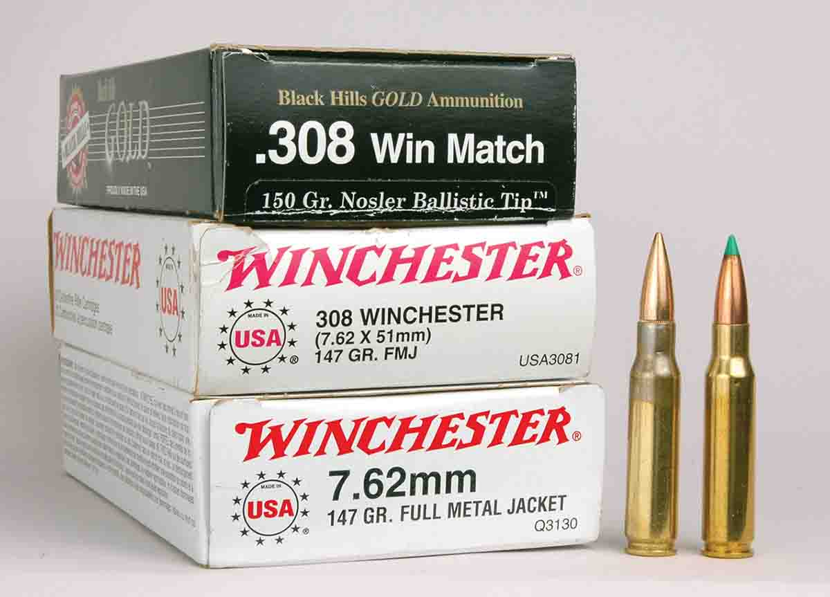 Factory ammunition for .308 Winchester and 7.62x51mm can be marked either way or with both cartridge designations.