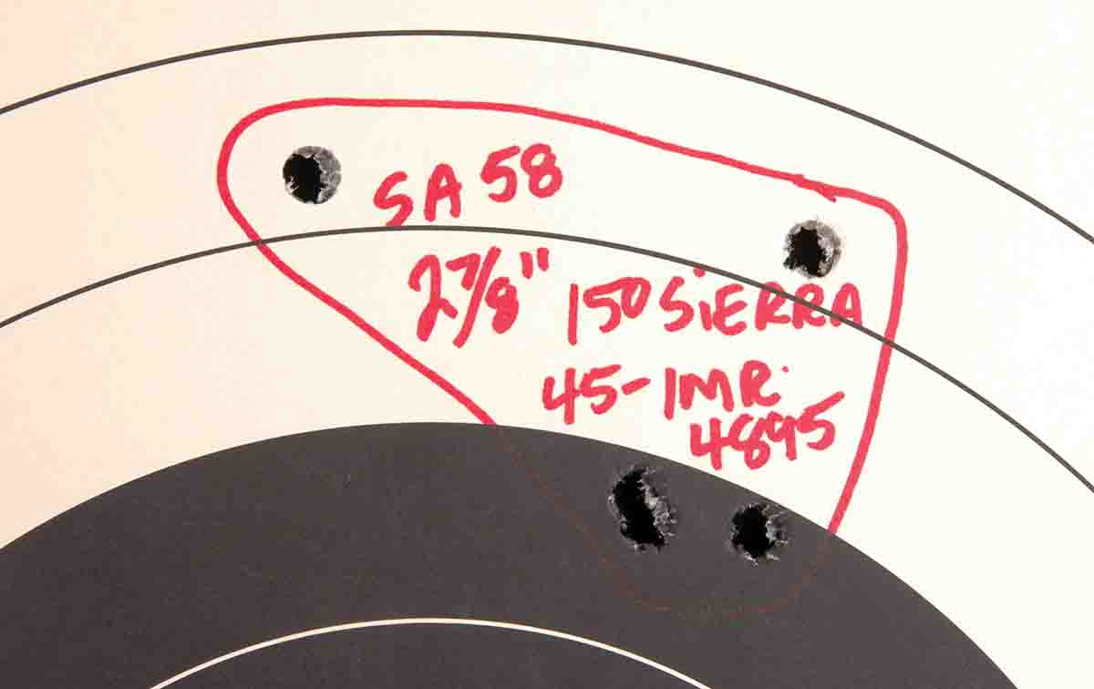 The best groups shot with the DS Arms .308 were slightly under 3 inches at 100 yards.