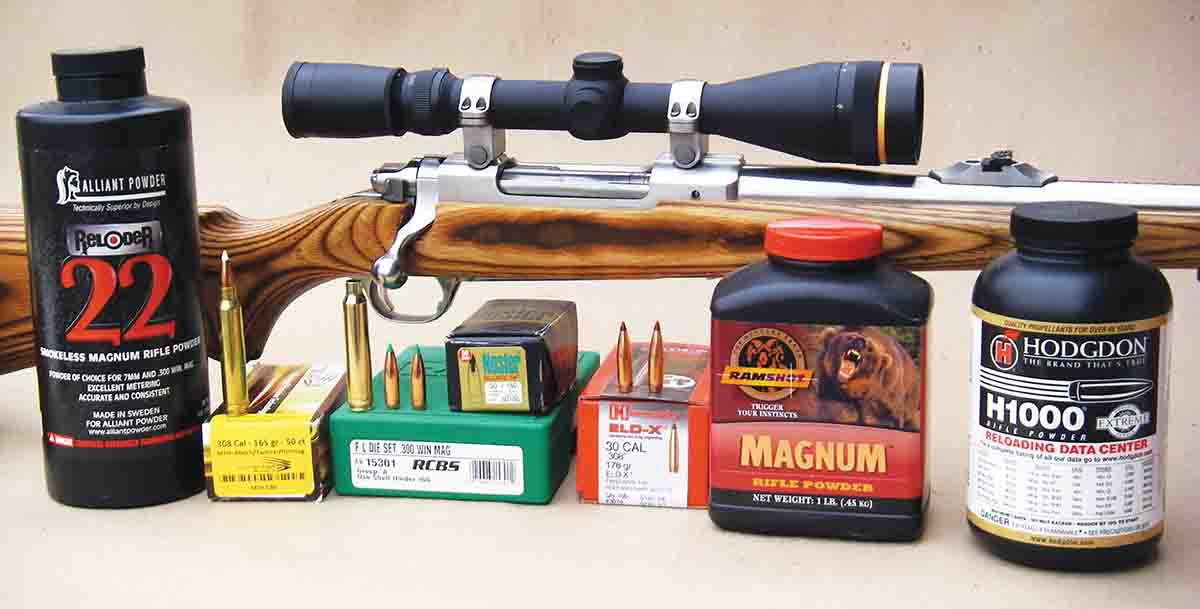 Brian used a Ruger M77 Mark II Stainless to develop loads for the .300 Winchester Magnum.