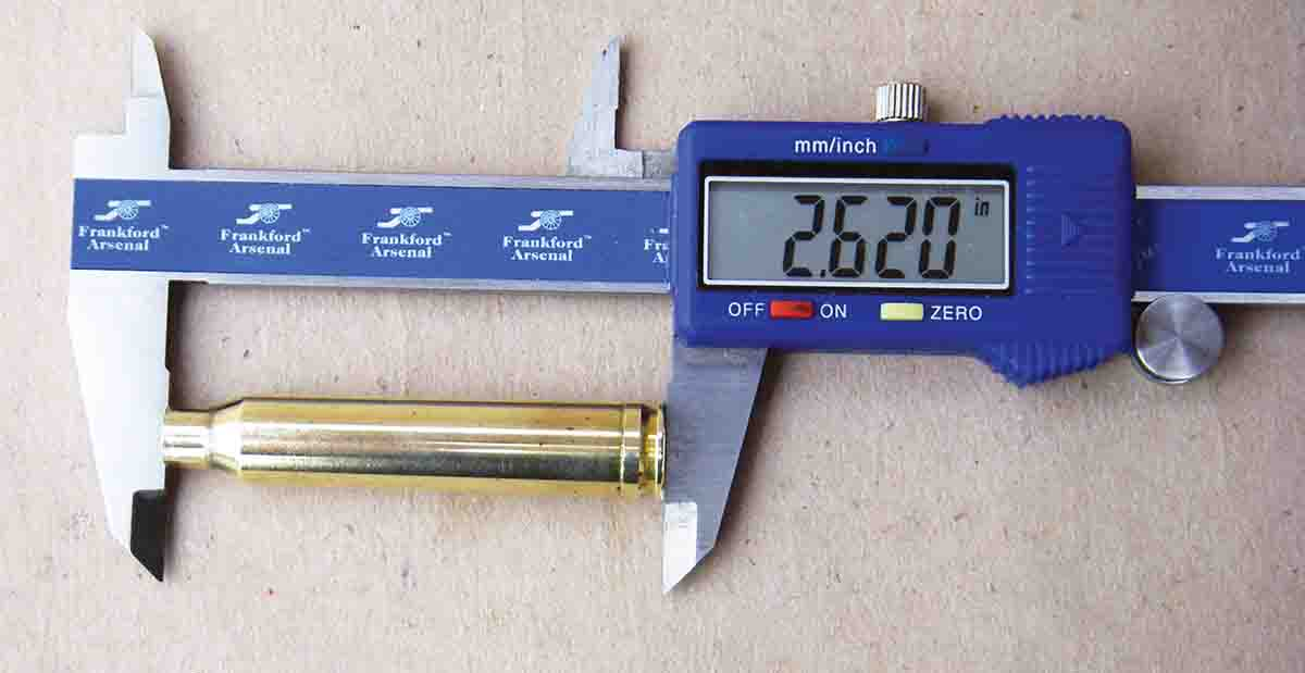 The .300 Winchester Magnum has a maximum case length of 2.620 inches.