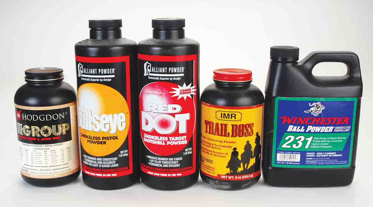 Mike believes that all these relatively fast burning powders are good for all the different .45s.