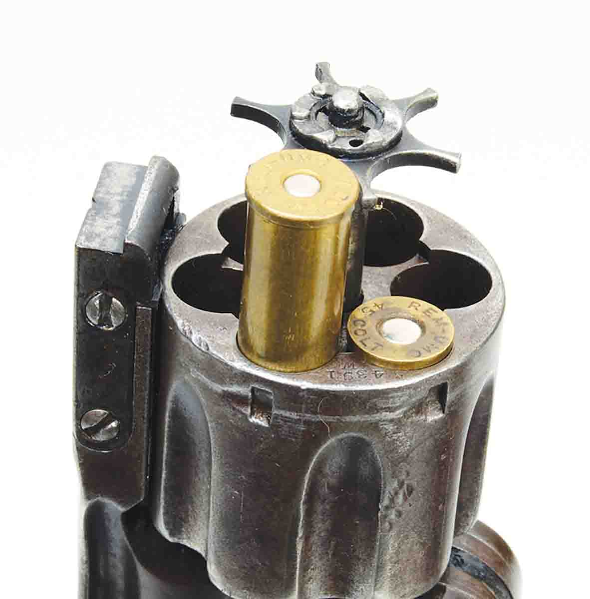 The short .45 Colt rounds with .502-inch rim diameters will not function properly in the star type extractors of Smith & Wesson Model No. 3s.