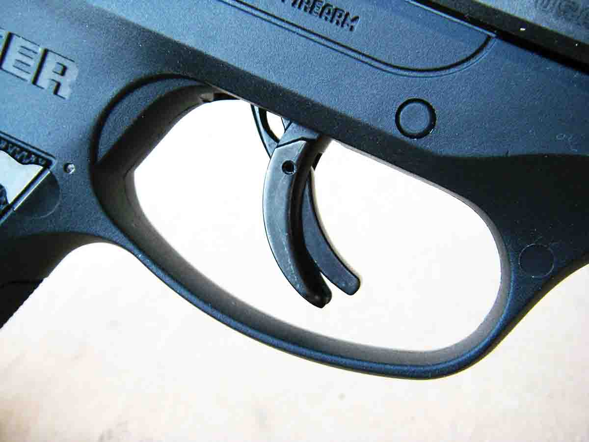 The pistol features the popular inner lever contained in the trigger.