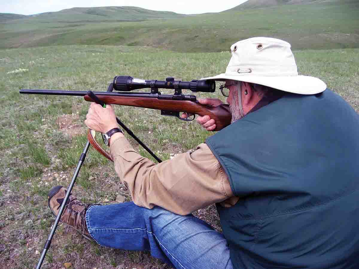 "A rifle like this CZ 537 .17 Hornet needs to be really accurate to hit ""gophers"" consistently, since often only part of the target is visible through spring grass."