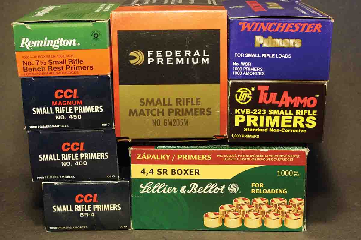 Trying different primers tends to make the most difference in smaller cartridges, such as the .17 Hornady Hornet, .22 Hornet and .22 K-Hornet.