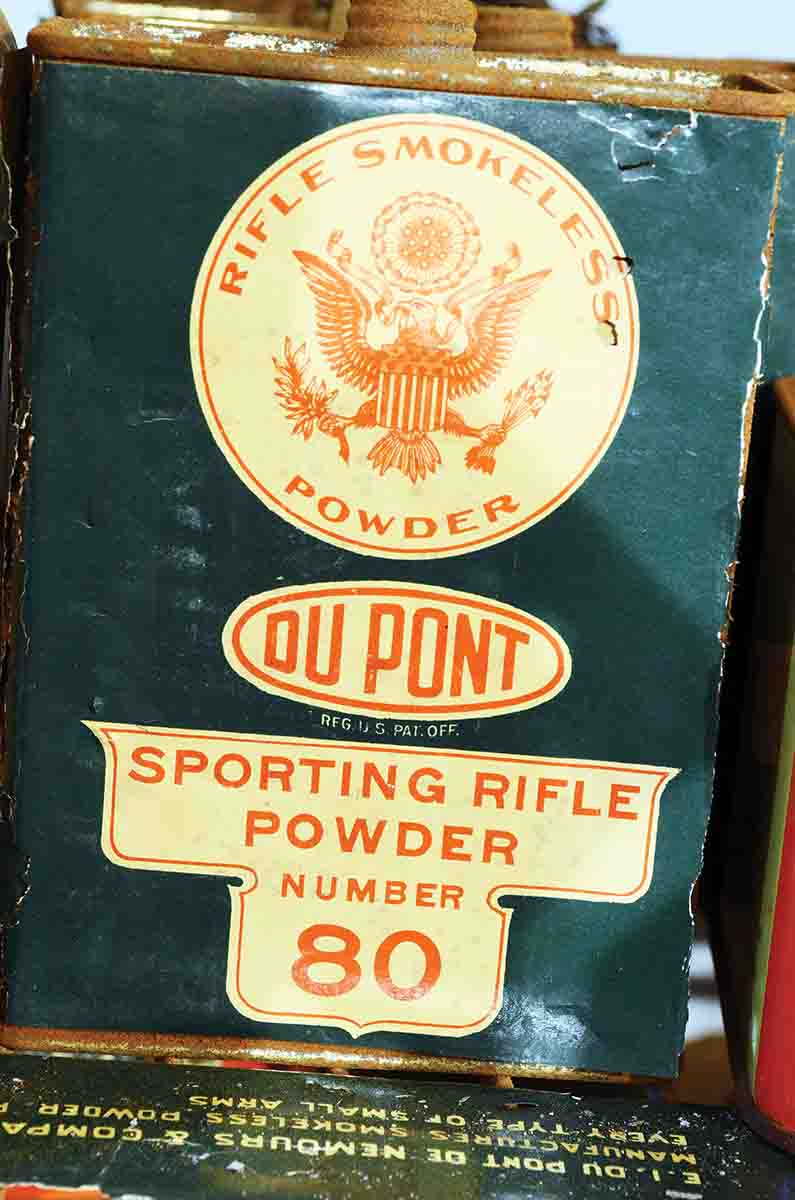 In the early years of the twentieth-century, DuPont de Nemours Inc., the huge chemical combine, differentiated between sporting (SR) and military (MR) powders.