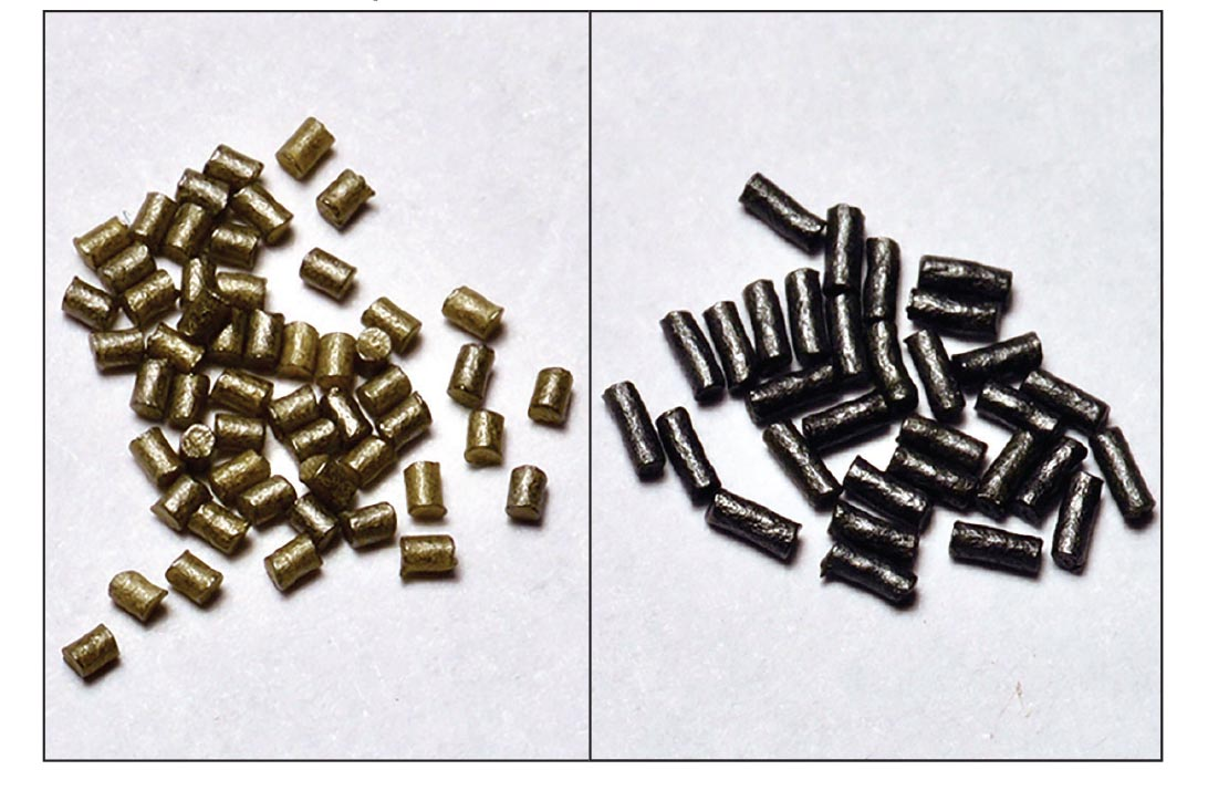 IMR's 8208 XBR (left) combines many of the IMR-3031 (right) virtues in a powder that features smaller granules and is easier to meter accurately.