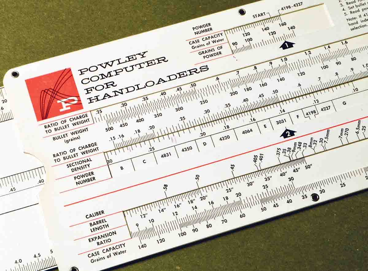 The Powley Computer for Handloaders was developed by ballistician Homer Powley in the early 1960s and was available until around 1988. IMR-3031 was one of the main powders for which it would recommend loads.
