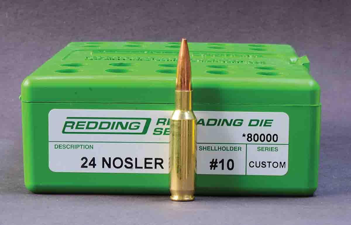 While .24 Nosler unprimed cases are available from Nosler, ammunition is not, and that makes it a handloader's cartridge.