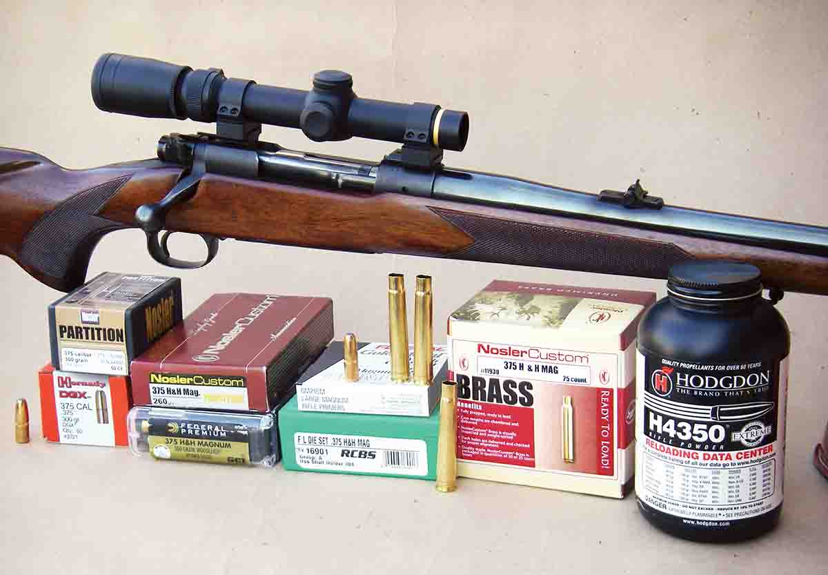A Winchester pre-'64 Model 70 was used to develop handload data.