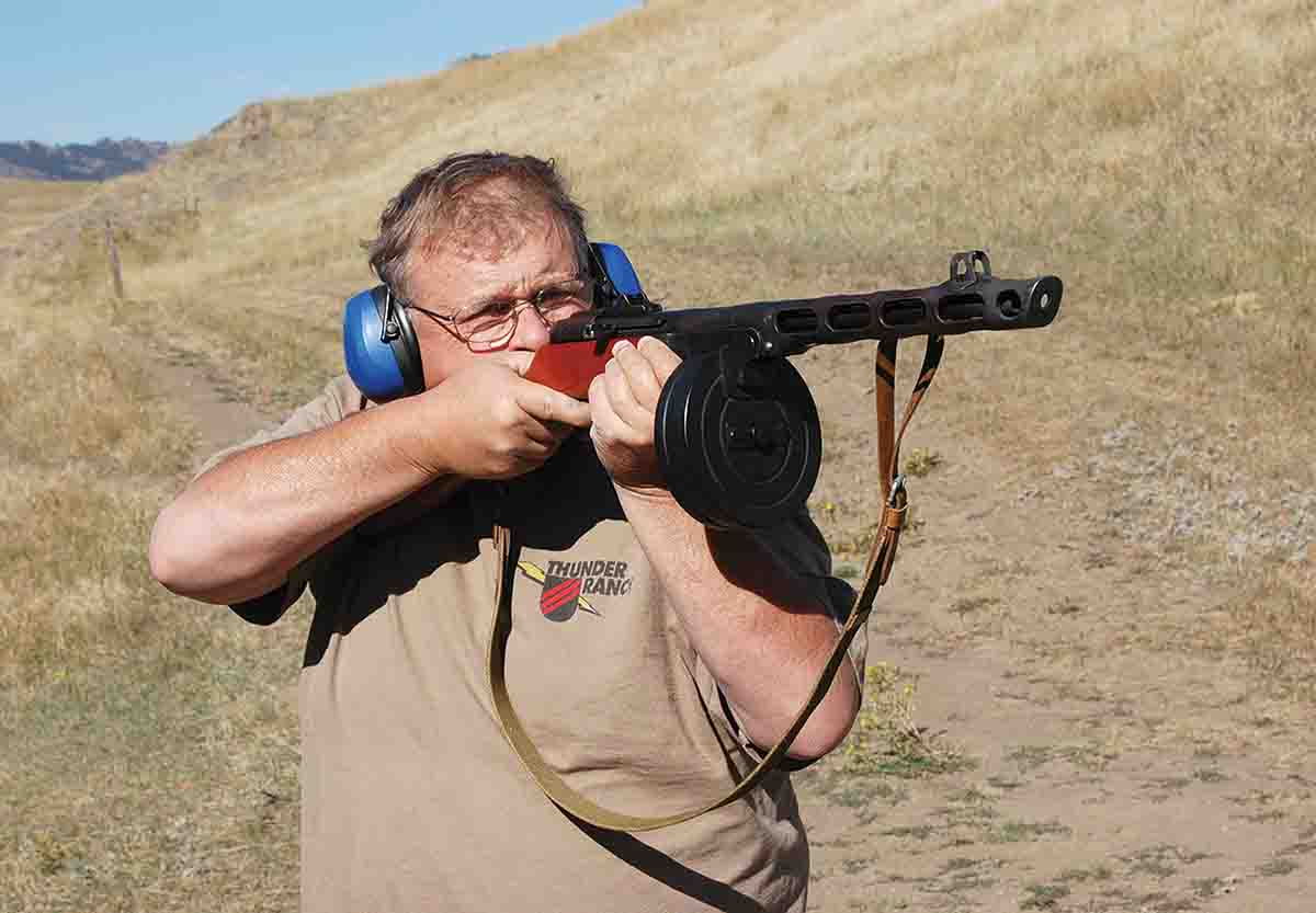 Mike is shooting his PPsh41 7.62x25mm.