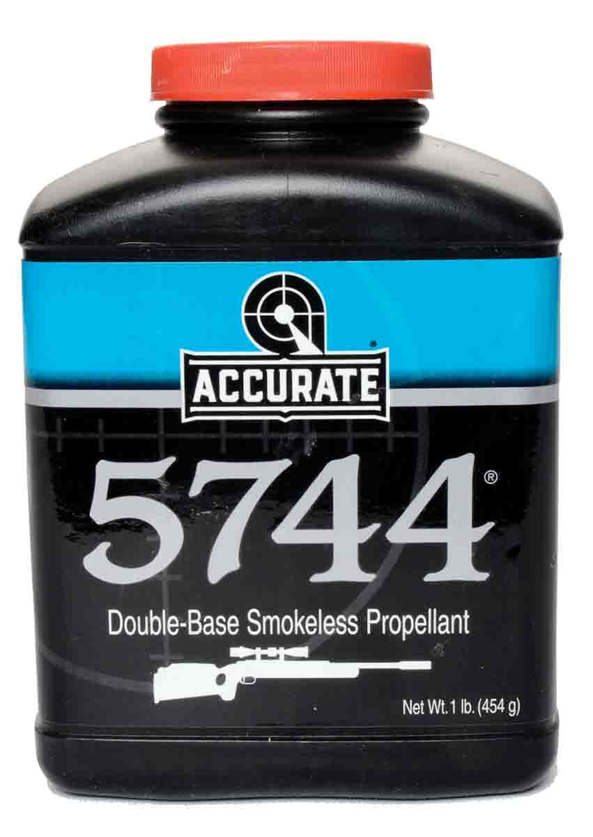 "The smokeless propellant commonly known as ""5744"" has been produced in several countries. Today, it (Accurate 5744) is a product of Western Powders."