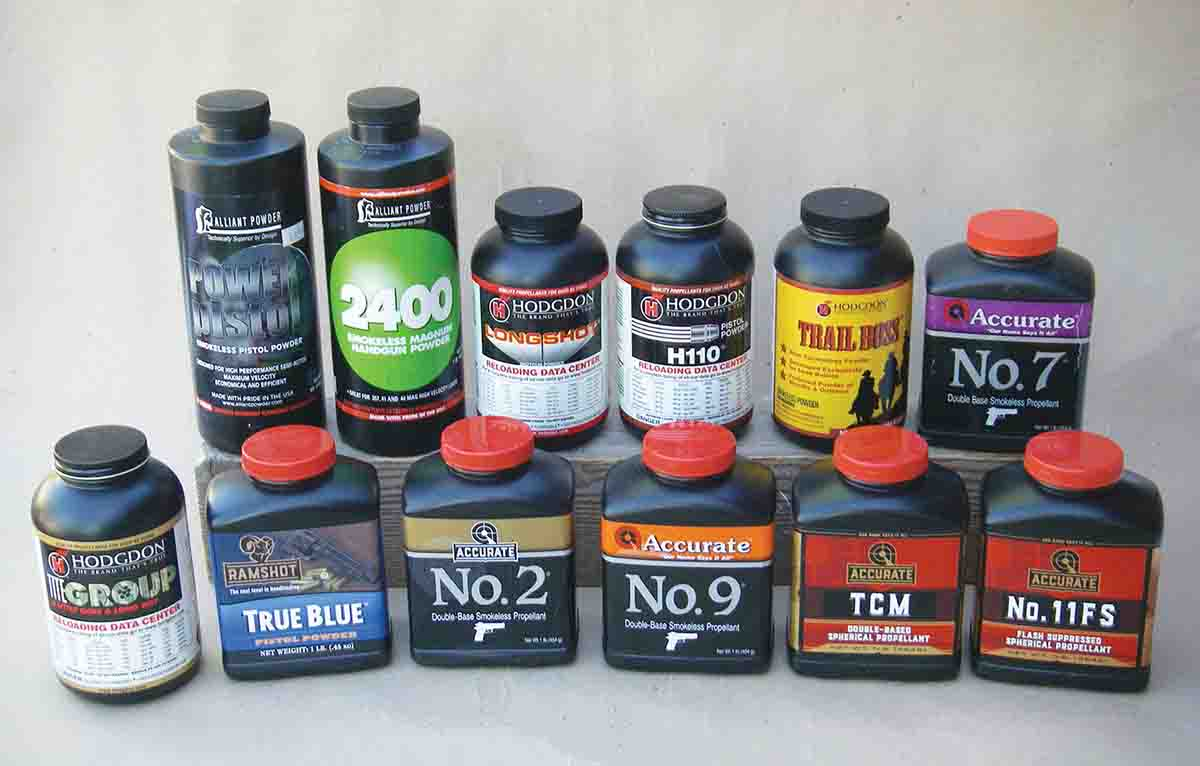 A variety of powders were tried in the .327 Federal Magnum.
