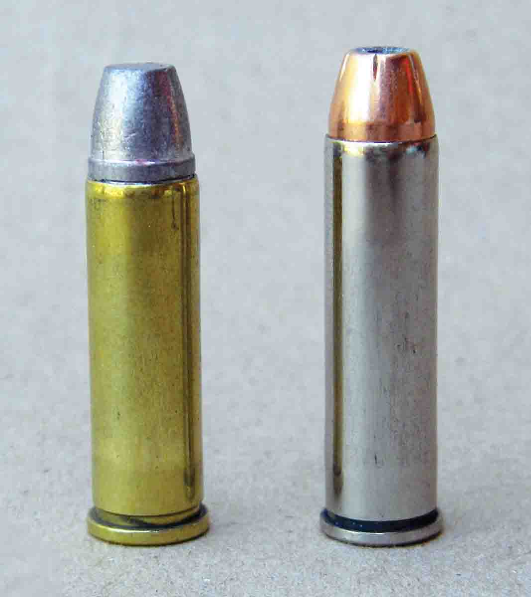 The .327 Federal Magnum (right) is the offspring of the .32 H&R Magnum (left).