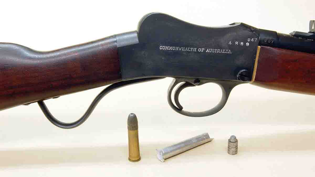 "An Australian .310 Cadet ""lightly sporterized"" along with a factory cartridge, chamber cast and bore slug. All are mandatory if handloading is desired."