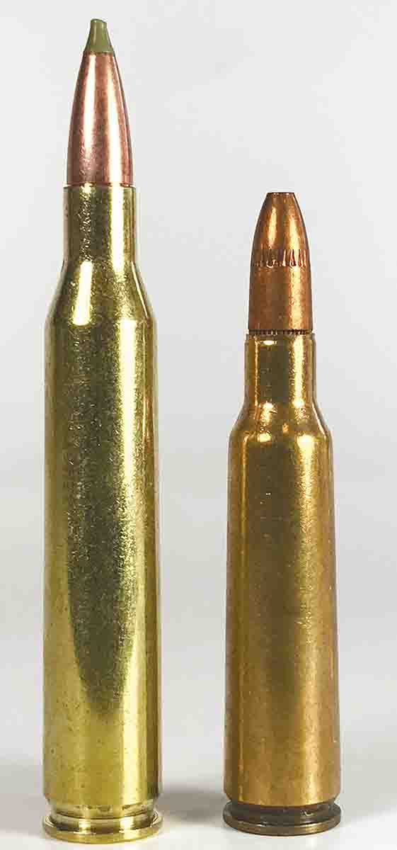 The .250-3000 Savage (right) is a great cartridge for hunting deer. The larger .25-06 is even more of a good thing.