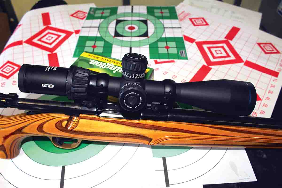 This Ruger M77V rifle was topped with a 2020 Meopta Optika6 4.5-27x 50mm FFP scope with BDC reticle. The Optika6 proves an ideal pairing with a hot rod varmint cartridge like the Swift.
