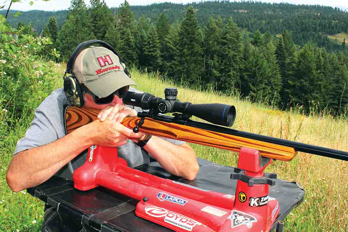 The Ruger M77V test rifle weighed a solid 12.06 pounds with a 1.94-pound Meopta Optika6 4.5-27x 50mm scope added. That extra weight marked it for a portable bench.