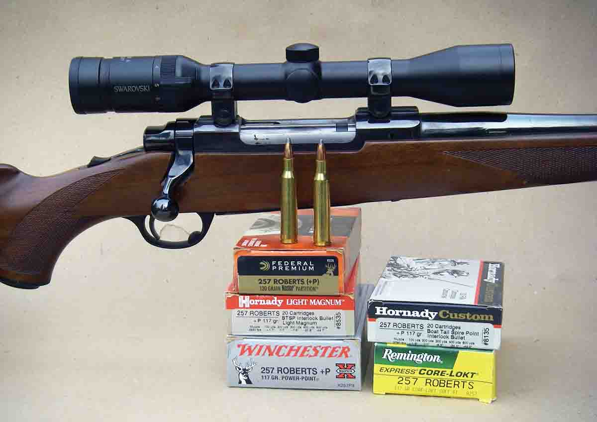 The .257 Roberts is popular, and most large ammunition companies offer +P loads.