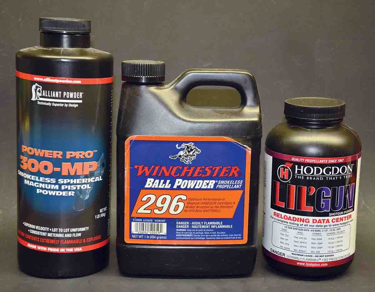 Power Pro 300-MP, Winchester 296 and Hodgdon Lil'Gun are excellent powders for the .22 WCF Improved.