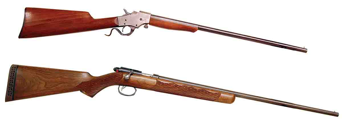 These two classic .22 smoothbores include a Stevens Favorite (top)and a Remington M514 (bottom).
