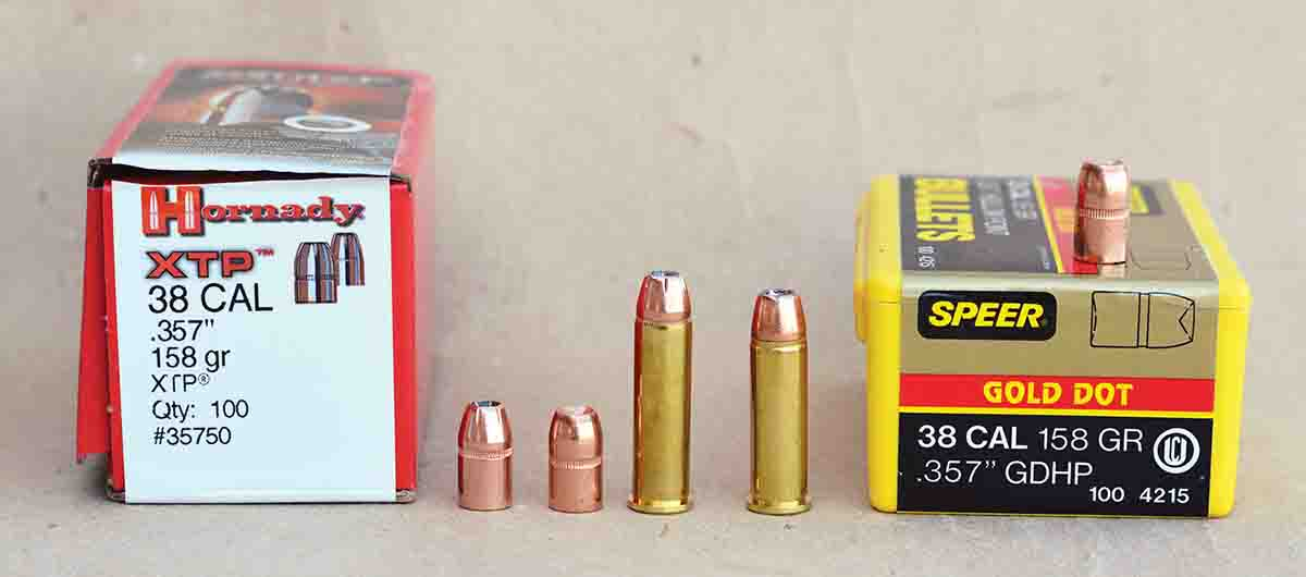 "Even if bullets are seated out to the same overall cartridge length, .357 Magnum data should ""not"" be used in .38 Special cases."