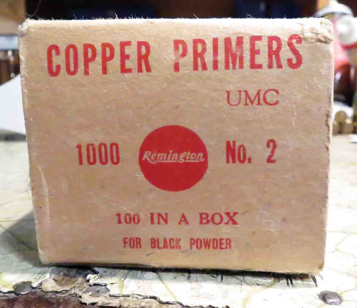 Old black-powder specific No. 2 primers by Remington.