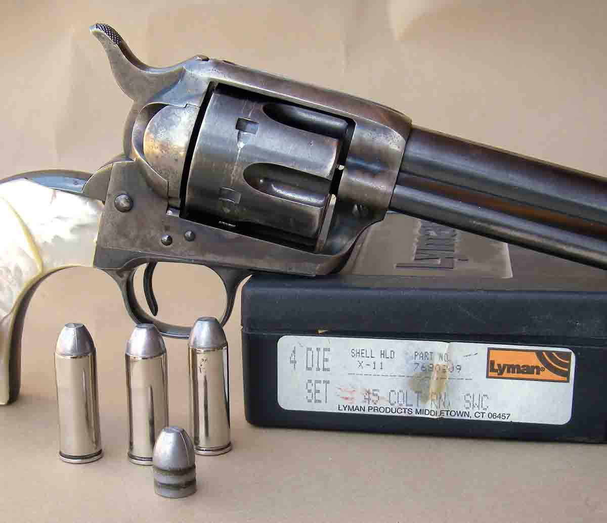 .45 Colt factory ammunition can be easily duplicated through handloading.